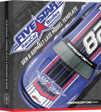 SRGFX Gen 6 Asphalt Late Model Template