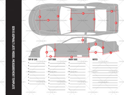 SRGFX Gen 6 Asphalt Late Model Measurement Template