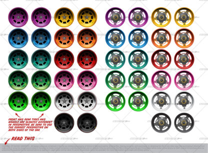 SRGFX Gen 6 Asphalt Late Model Wheel Options