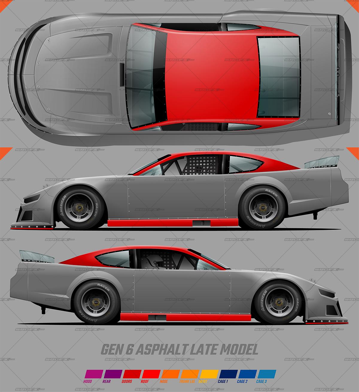 Five Star Gen 21 Asphalt Late Model Template For Blank Race Car Templates