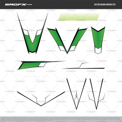 SRGFX Vector Racing Graphic 079 Motocross Graphic