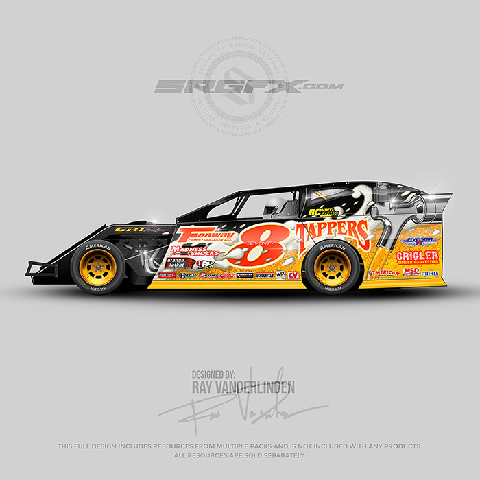 SRGFX Vector Racing Graphic 078