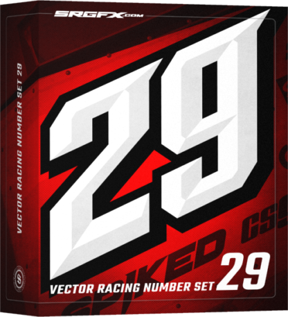 SRGFX MXVEC Vector Racing Number Set 29 Box