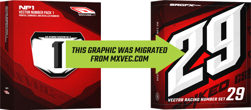 SRGFX MXVEC Vector Racing Number Set 29 Migration Banner