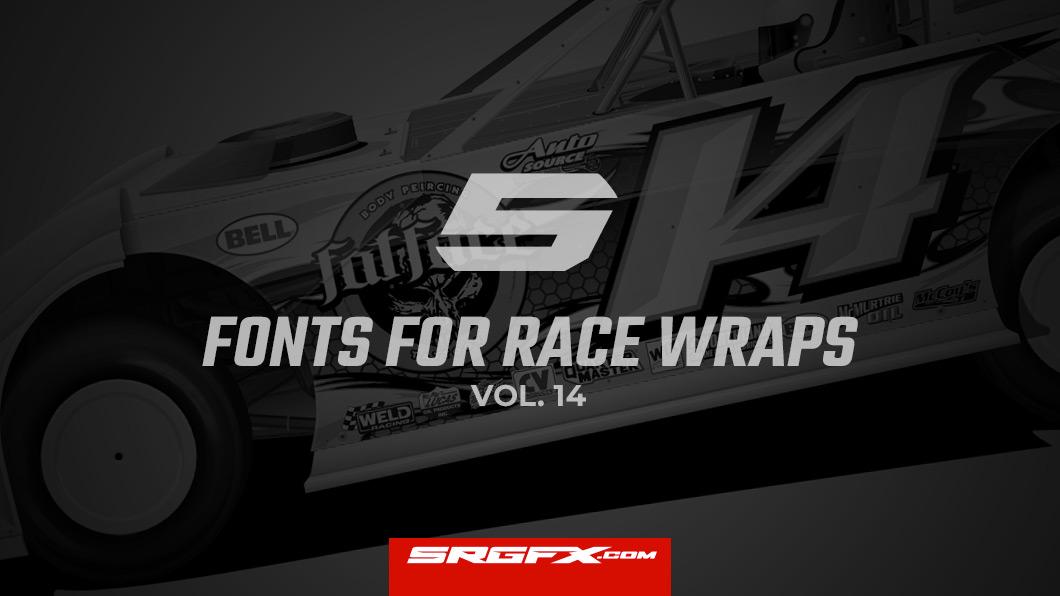 Perfect fonts for racing design materials | School of Racing