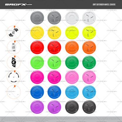 SRGFX Dirt Defender Wheel Covers for Graphic Designers, Wrap Shops and Hobbyists