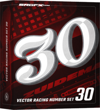 Classic vector racing number set for wrap designs, graphic design and wrap shops