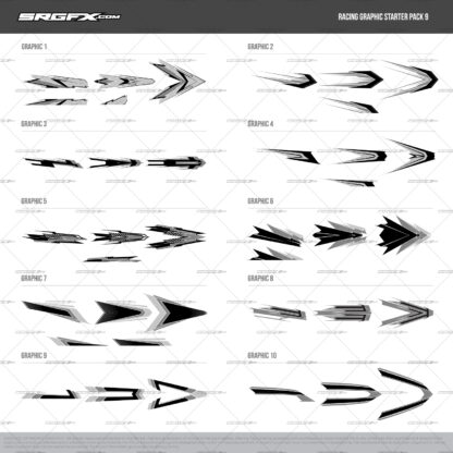 SRGFX Vector Racing Graphic Pack 9 Preview