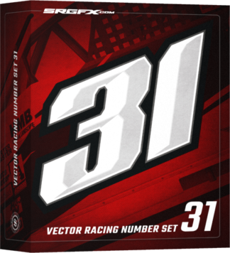 SRGFX Block, Convex Vector Racing Number Set 31