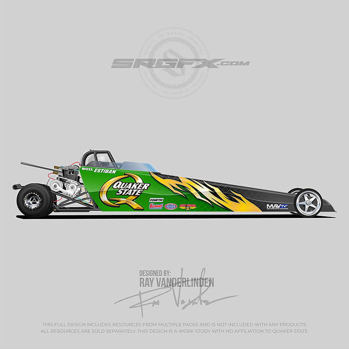 Quaker State 2020 Jr. Drager Wrap Design