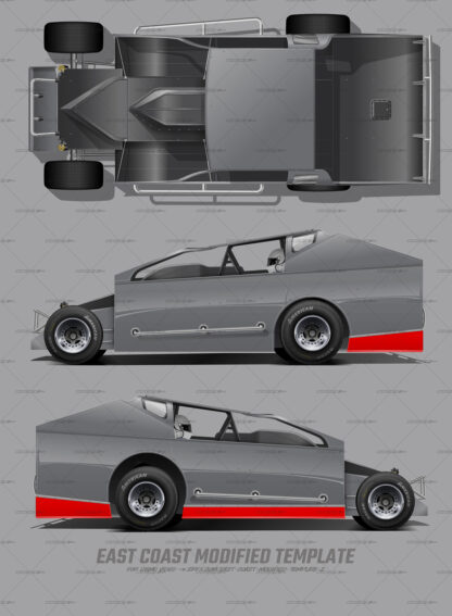 East Coast Modified and Sportsman Modified wrap template for mockups. Perfect for wrap companies, freelance designers and wrap designers.