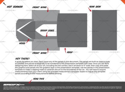 East Coast Modified Wrap Layout Template Top Panels