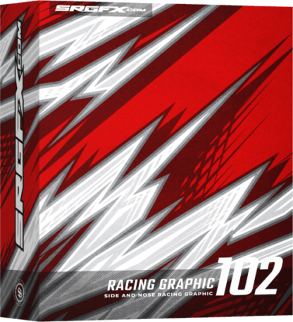 A jagged and aggressive racing graphic for designers, wrap shops, and freelance designers