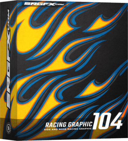 SRGFX Vector Racing Graphic Flames 104