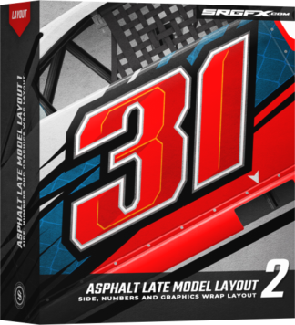 SRGFX Asphalt Late Model Wrap Layout 2 Box