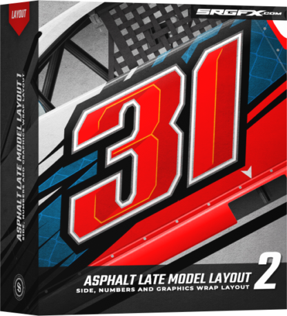 SRGFX Asphalt Late Model Wrap Layout 2 Box