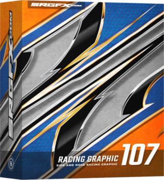 SRGFX Vector Racing Graphic 107