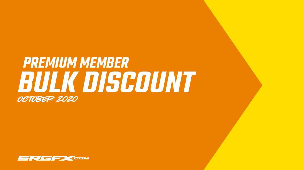 October 2020 SRGFX Premium Member Discount