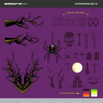Halloween themed racing graphics