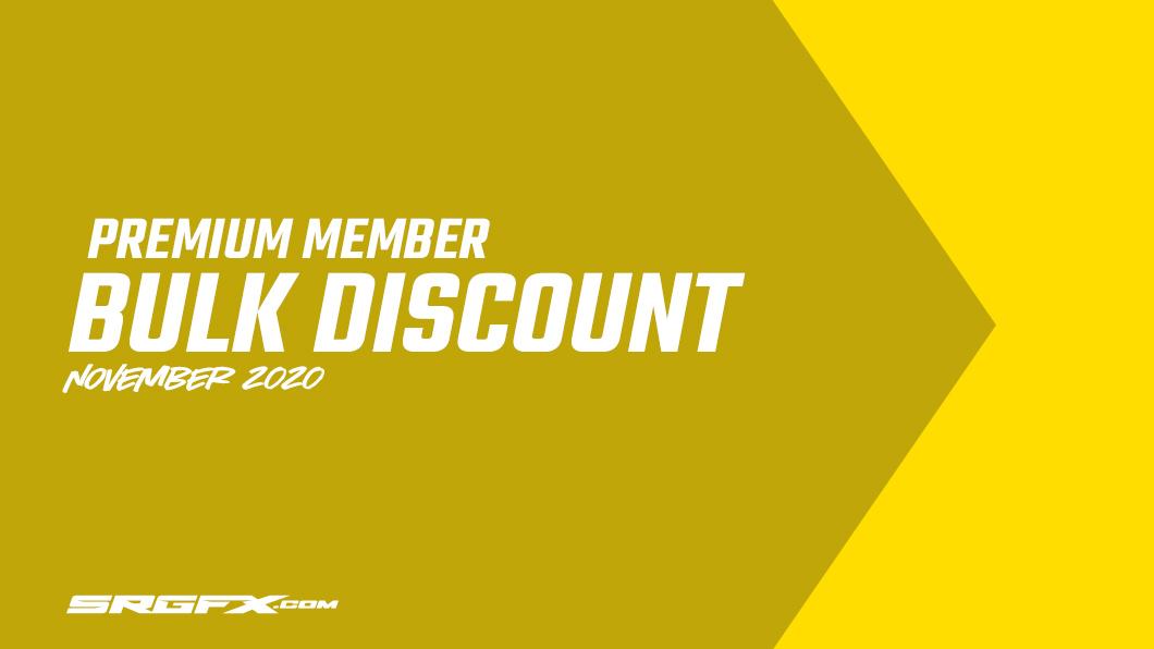 November 2020 SRGFX Premium Member Discount