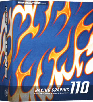 SRGFX Vector Racing Graphic Flames 110