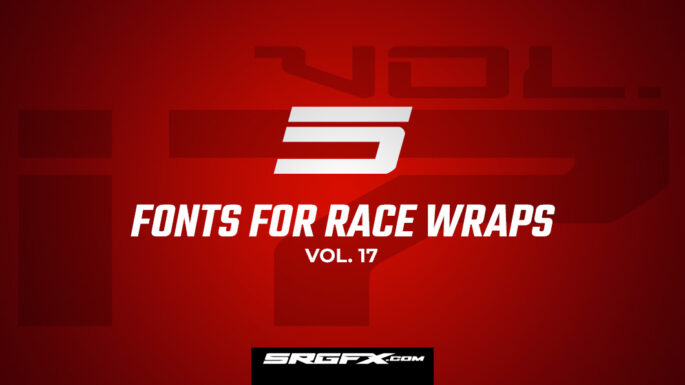 SRGFX Racing Font Collection Vol 17
