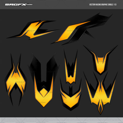 SRGFX Vector Racing Graphic 113