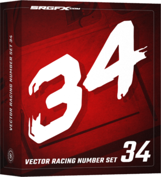 SRGFX Vector Racing Number Set 34 Box