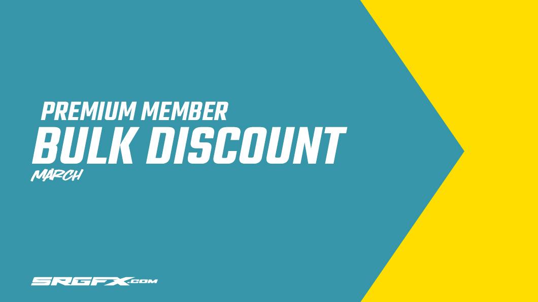 SRGFX March Premium Membership Bulk Discount