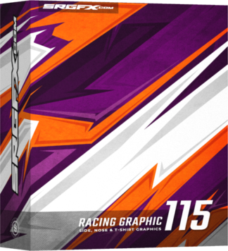 This vector Racing Graphic includes sharp points, straight lines and jagged edges.