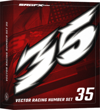 SRGFX Vector Racing Number Set 35 Box