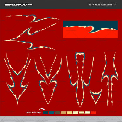 SRGFX Vector Racing Graphic 117